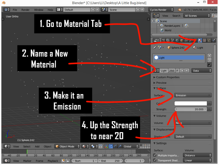 Assigning a Texture in Blender.