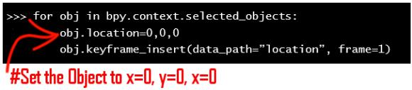 Python script in Blender