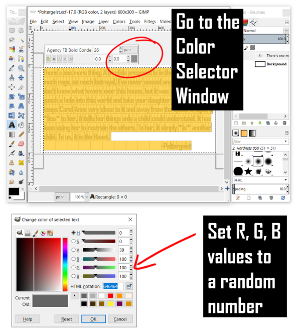 Setting a Specific RGB Value in GIMP