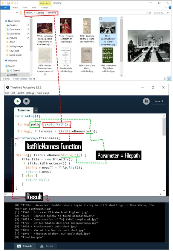 listFileNames Function