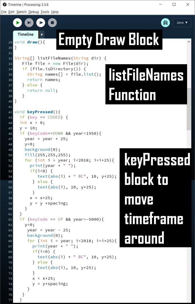 The keyPressed block