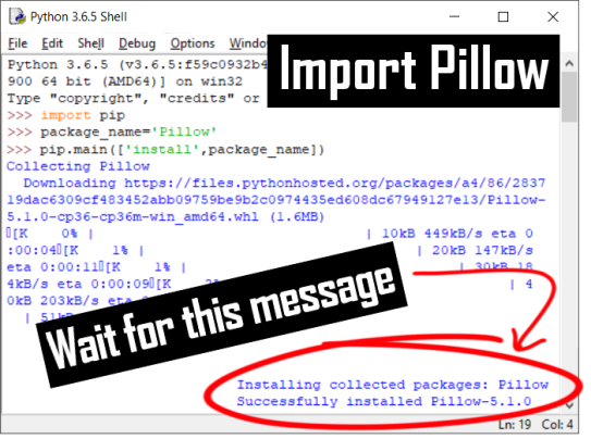 Importing the Pillow Module