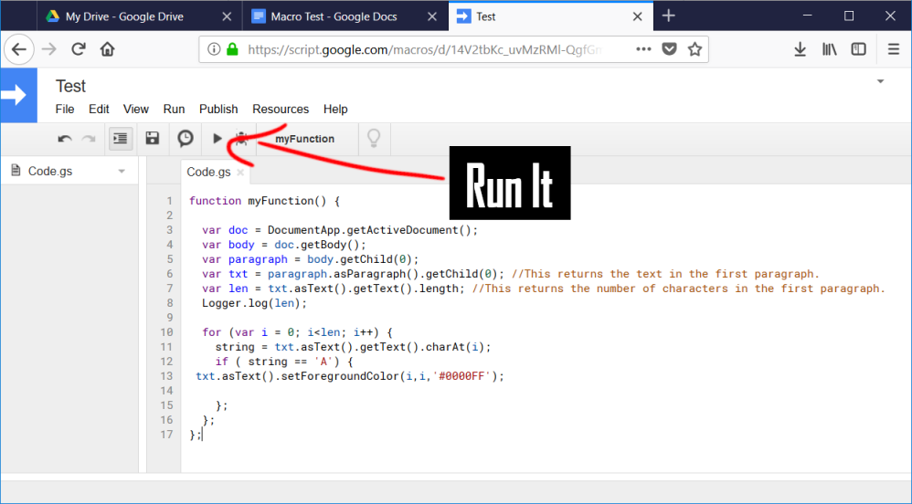 JavaScript: How to Automate a Google Doc – gifGuide2Code