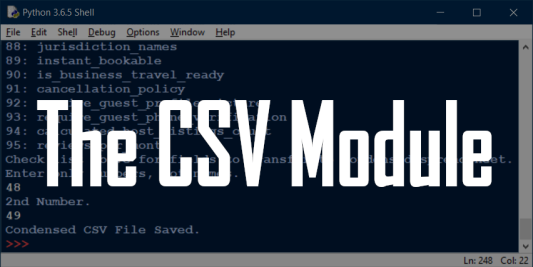 The CSV Module
